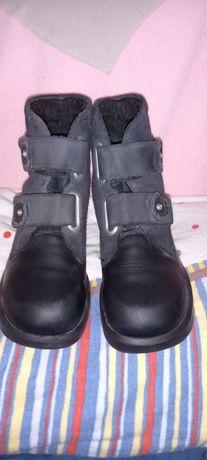Кожаные фирменные термо ботиночки на девочку Rihter,27 р-р.