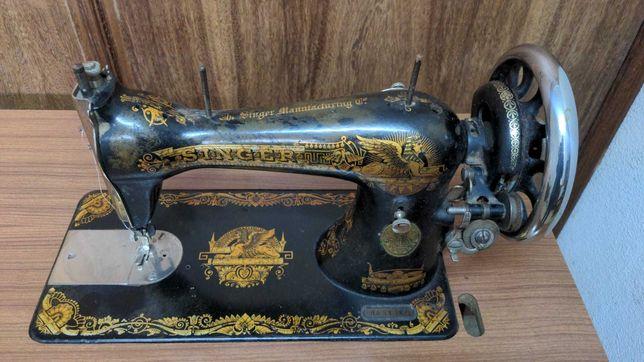 Máquina de Costura Singer com Móvel - Antiguidade