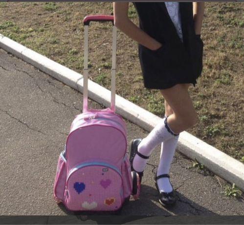 Рюкзак с колесиками и лего Upixel