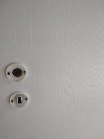 Drzwi wewnętrzne białe dźwiękochłonne pełne 70, 80, 5 szt. Komplet