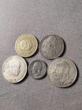 Zestaw dużych monet okazja 5 sztuk wykopki z kolekcji