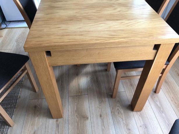 Wygodny stół jadalniany rozsuwany lite drewno bukowe stan BDB