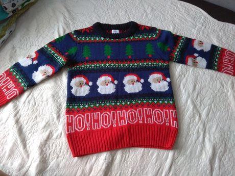 Sweterek świąteczny 128/134