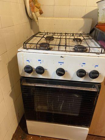 Газовая плита на 4 комфорки с духовкой