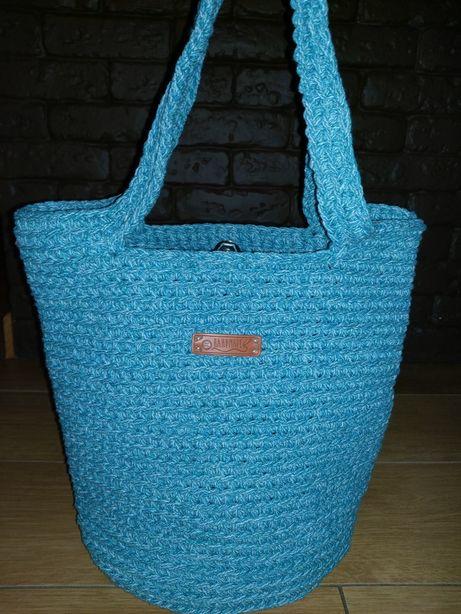 Torebka torba torebka ze sznurka bawełnianego handmade