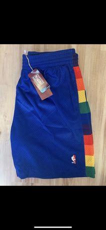 Spodenki NBA mitchel&ness Denver nugets XXL fit XL niebieskie