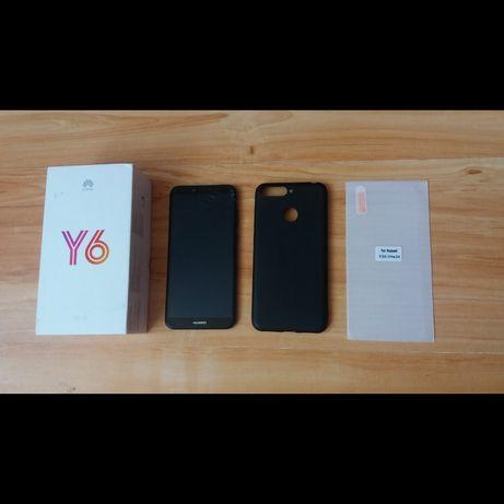 Huawei Y6 2018 zestaw etui szkło Dual Sim smartfon telefon niebieski