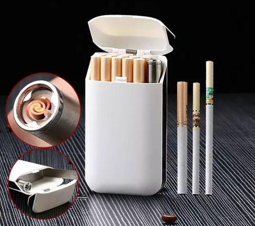 Подарочный портсигар бокс под сигареты и USB юсб зажигалка