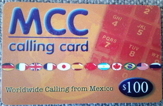 Karta telefoniczna Meksyk MCC zdrapka 100 MXN