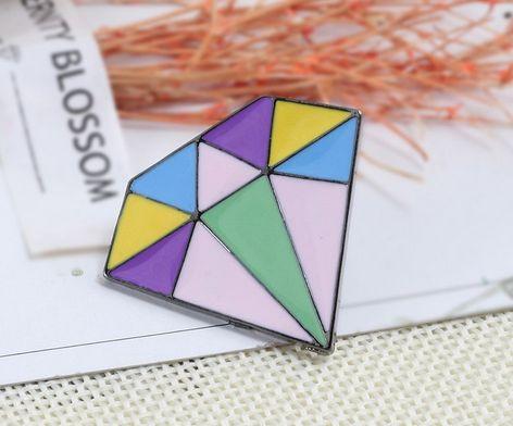 PIN WPINKA przypinka znaczek diament geometryczny