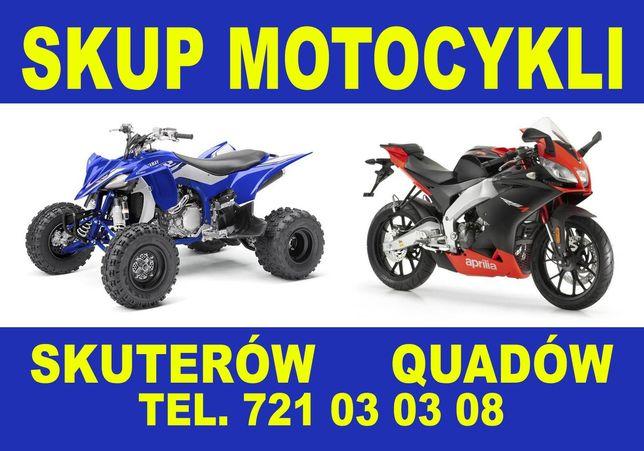 Skup motocykli quadów skuterów markowe chińskie ! Przyjedziemy !