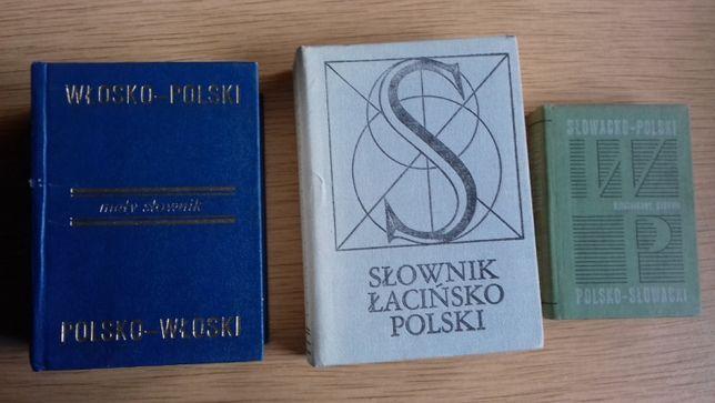 słowniki do j.włoskiego i j. słowackiego