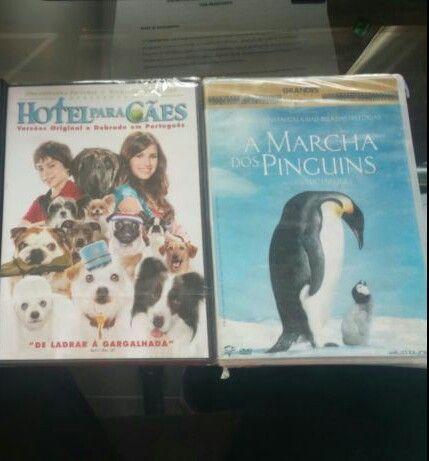 Dvd (hotel para caes, marcha dos pinguins)