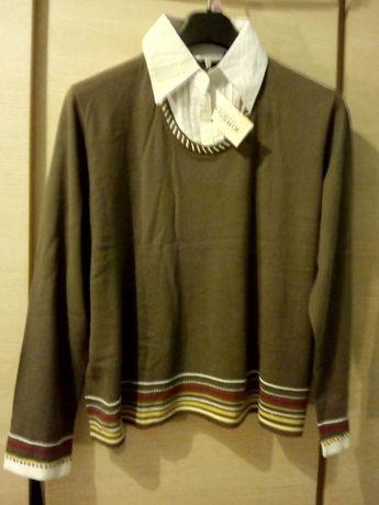 Kirsten bluzka koszulowa sweter z kołnierzykiem r.48