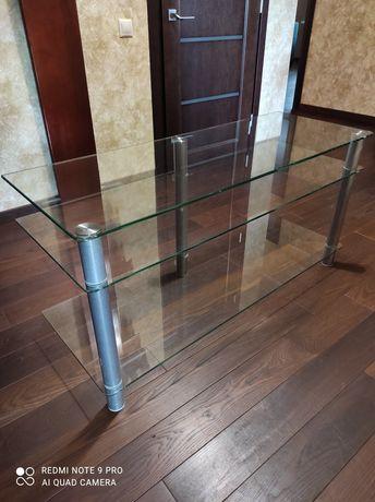 Продам стеклянный столик 1180×440х580
