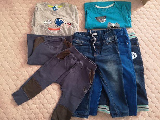 Spodnie, jeansy, bluzy, bluzka rozm 86