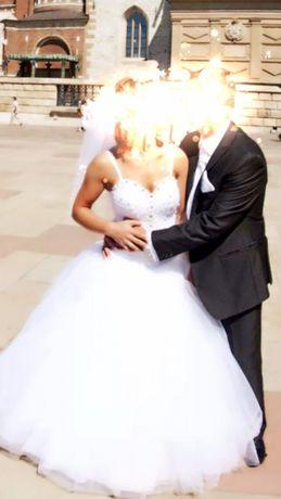 Suknia ślubna 34-36 Svarovski
