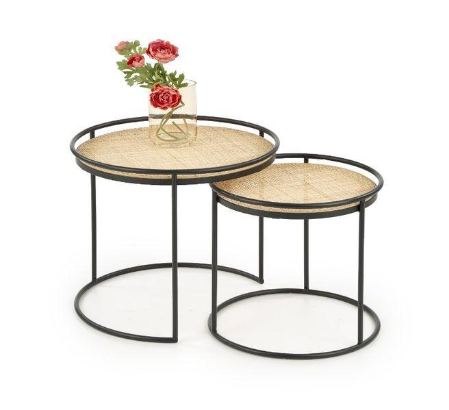 MANADO / ZESTAW 2 ŁAW stolików kawowych / rattan