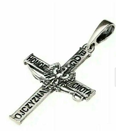 Krzyżyk srebro 925