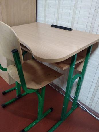 Парта школьная + стул на 1-4 класс одномест. ортопед.