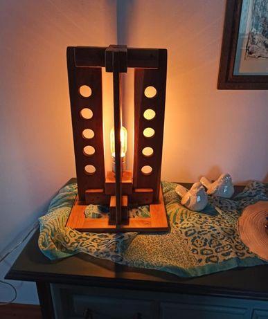 Lampa loftowa, industrialna, vintage, drewno dąb