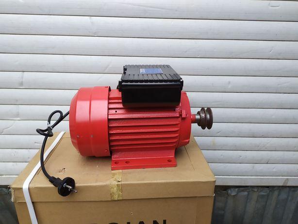 Электродвигатель 3квт/3000/1500об однофазный електродвигун 220в мотор