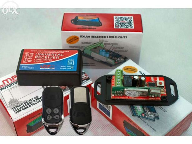 RXU01 Receptor universal automatismo portão + 2 comandos Rolling Code