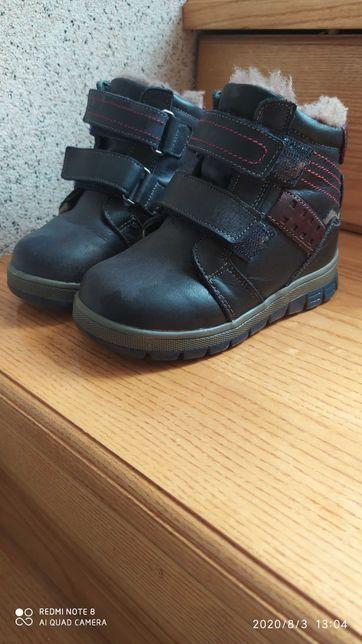 Шкіряні зимові черевики на цегейці