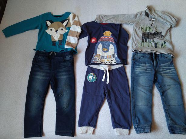 Zestaw j. nowe ubrania dla chłopca 86-92