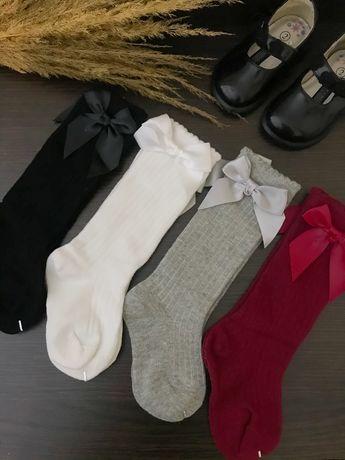 Гольфы детские, носки с бантом