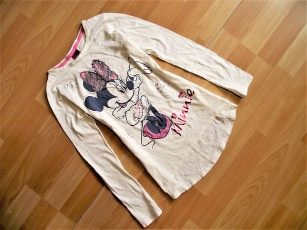 Disney Minnie bluzka tunika roz 134 / lat 8-9