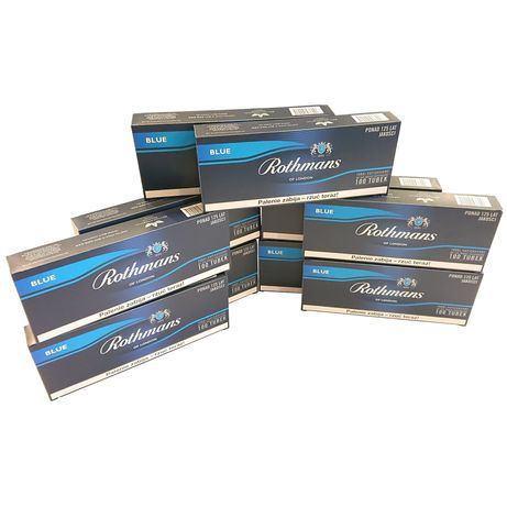 10 x Gilzy papierosowe ROTHMANS BLUE 100 sztuk długi filtr