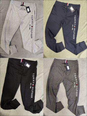 Spodnie Dresowe Tommy Hilfiger Dresy Wyszywane Outlet Premium TH