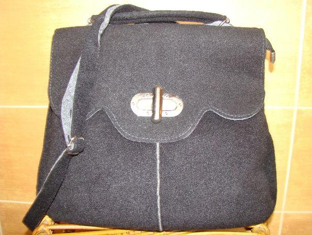 torebka torba listonoszka z flauszu filcu jak nowa