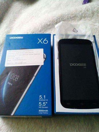telefon Doogee x6 5,5 cala gratis smartwatch