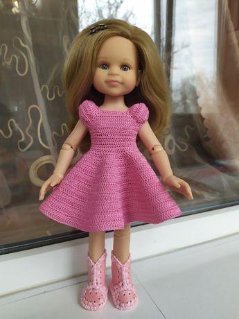 Замечательное платье розового цвета для куклы 32-35 см. Паола Рейна
