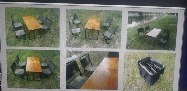 Складной стол и стулья для пикника