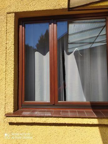 Okna drewniane dwuskrzydłowe
