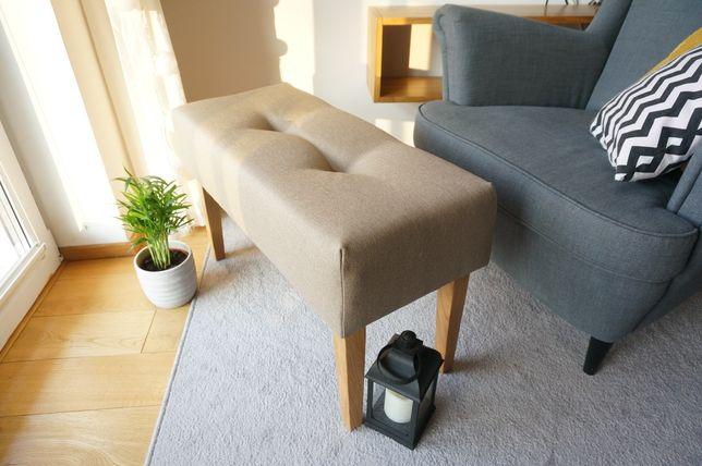 Pufa ławka siedzisko pikowana ławeczka przedpokój puf pufka podnóżek
