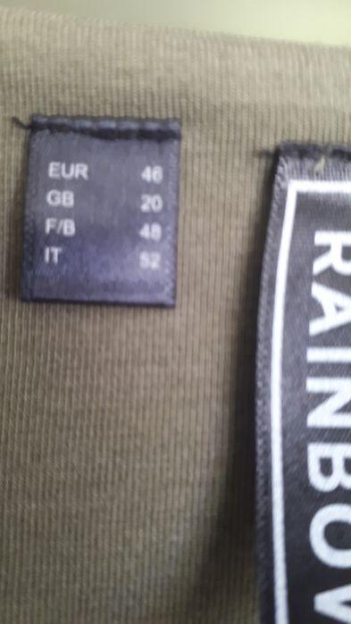 Przepiękna sukienka khaki rozmiar 46 płótno łączone z bawełna Koszalin - image 1