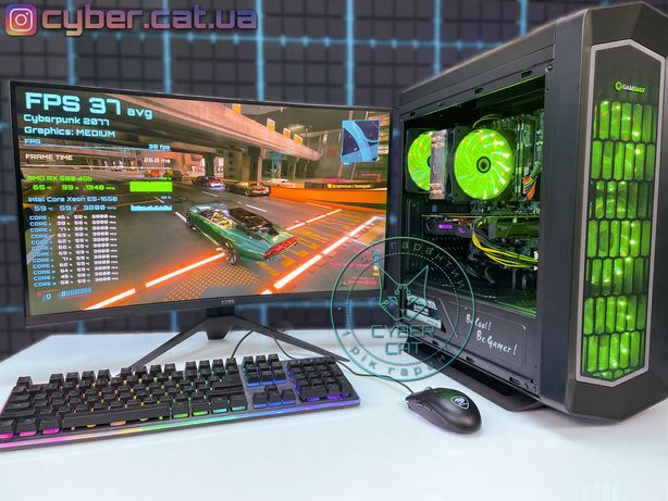 Разрушитель! RX580 6/12ядер мощнее i5 i7 1060 Игровой ПК Комп CyberCat