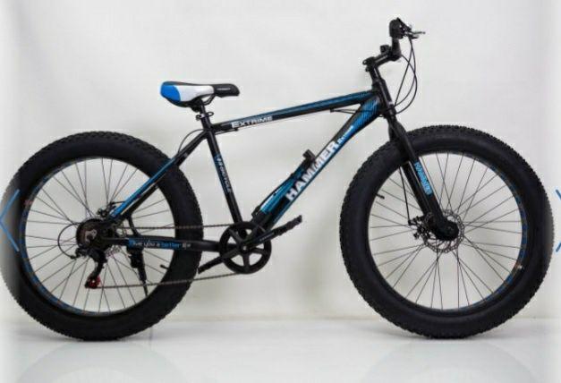 Фэт Байк-Горный Велосипеды HAMMER EXTRIME S800   Синий Колёса 24 Shima