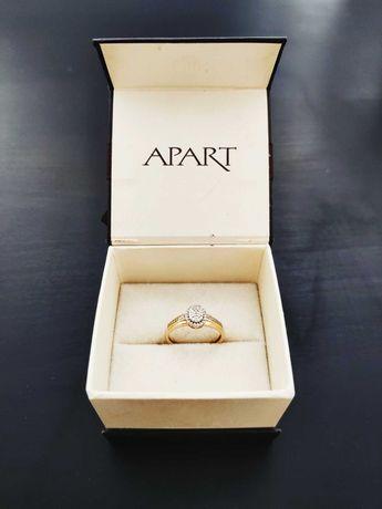 Złoty pierścionek z diamentami APART - rozm. 13 - KATOWICE