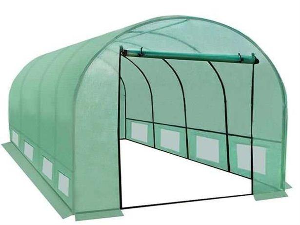 Solidny Tunel ogrodniczy - szklarnia 4x2.5x2m foliowy ogrodowy