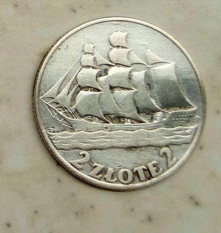 Монета 2 злотих 1936 р.
