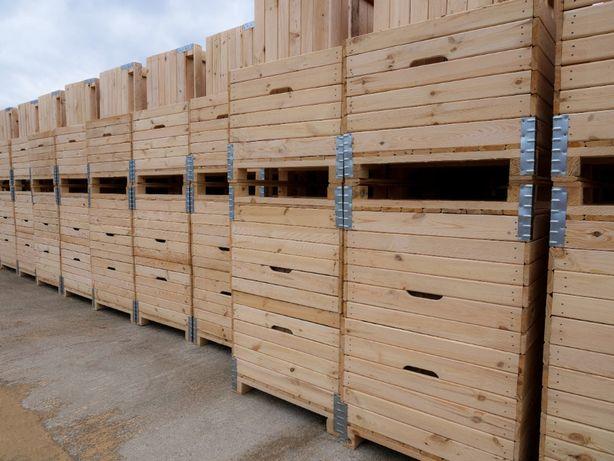 Skrzyniopalety drewniane na jabłka 120x100x80 KUBAR