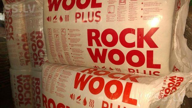 Вата для утеплення Rockwool rockmin plus даху мансарди мінвата роквул