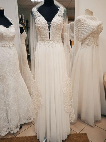 Suknia ślubna nowa koronkowa rozm 40