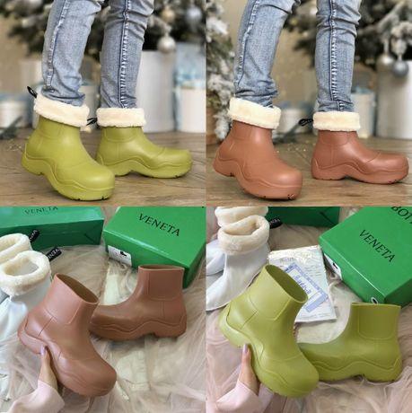 Женские резиновые сапоги B*ttega Veneta Puddle 36-40 Ботинки! Наложка!