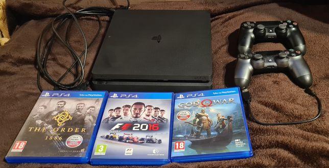 Playstation 4 Slim 1TB+2pady+3gry pudełko+ponad 40 gier wersja cyfrowa